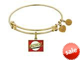 Brass With Yellow Finish  Bazinga Charm For Angelica Collection Bangle style: GEL1346