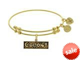 Brass With Yellow Finish Coexist Charm ForAngelica Bangle style: GEL1802
