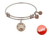 Angelica Collection Non-antique Pink Stipple Finish Brass apple; Teach, Inspire Expandable Bangle style: PGEL1036