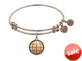 Angelica Collection Antique Pink Smooth Finish Brass earth Expandable Bangle style: PGEL1053