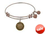 Angelica Collection Antique Pink Smooth Finish Brass compass Expandable Bangle style: PGEL1055