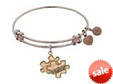 Angelica Collection Antique Rose Smooth Finish Brass Generation Rescue autism Expandable Bangle style: PGEL1209