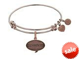 Angelica Collection Brass with Pink Finish Friends How You Doing Expandable Bangle style: PGEL1300