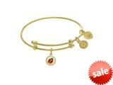 Brass Yellow Finish Enamel Cubic Zirconia Lady Bug Charm  Yellow Angelica Collection Tween Bangle (SM) style: TGEL9132