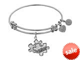 Angelica Collection Antique White Smooth Finish Brass Generation Rescue autism Expandable Bangle style: WGEL1209
