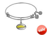 "Angelica Collection Brass with White Finish Friends Phoebe""s Taxi Expandable Bangle style: WGEL1295"