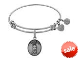 Angelica Collection Brass with White Finish Friends Smelly Cat Expandable Bangle style: WGEL1303