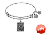 Angelica Collection Brass with White Finish Proud Daughter U.S. Army Expandable Bangle style: WGEL1309