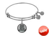 Angelica Collection Brass with White Finish U.S. Army Strong Round Expandable Bangle style: WGEL1310