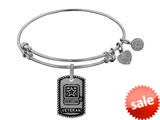 Angelica Collection Brass with White Finish U.S. Army Veteran Expandable Bangle style: WGEL1318