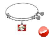 Brass With White Finish  Bazinga Charm For Angelica Collection Bangle style: WGEL1346