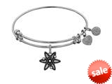 Brass With White Atom Charm For Angelica Collection Bangle style: WGEL1348