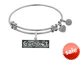Brass With White Finish Coexist Charm For Angelica Collection Bangle style: WGEL1802