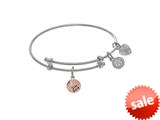 Brass With White Stay Sassy Charm On White Angelica Collection Tween Bangle (Small) style: WTGEL9097