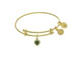 Angelica Collection Brass With Yellow Finish Charm May Heart Shape CZ Birth Month style: TGEL9017