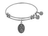 """Angelica Collection Antique White Stipple Finish Brass """"faith"""" Angelia Expandable Bangle style: WGEL1103"""