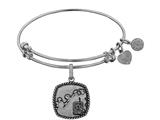 Angelica Collection Brass with White Finish U.S. Army Silhouette Expandable Bangle style: WGEL1307