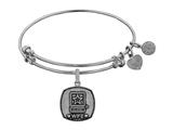 Angelica Collection Brass with White Finish U.S. Army Wife Expandable Bangle style: WGEL1308