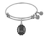 Angelica Collection Brass with White Finish Proud Sister U.S. Army Expandable Bangle style: WGEL1317