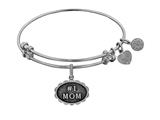 Brass With White Finish #1 Mom Charm For Angelica Collection Bangle style: WGEL1788