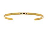 "Intuition Stainless Steel Yellow Finish ""peace""Cuff Bangle style: YINT5060"