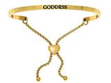 "Intuition Stainless Steel Yellow Finish ""goddess""adjustable Friendship Bracelet style: YINT7012"