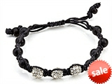 Adjustable Rhinestone Ball Bracelet style: SB105