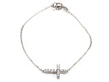 Silver CZ Cross Bracelet style: SB115