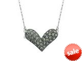 Heart Pendant Necklace made with Swarovski Crystals on 16 Inch Chain style: SF1020