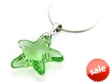 925 Sterling Silver Green Color Crystal Starfish Pendant Necklace made with Swarovski Elements style: SF1042
