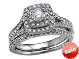 Round Diamonds Wedding Engagement Ring Set - IGI Certified style: SKR8825