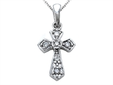 Genuine Cross Pendant with a Diamond style: SK11496