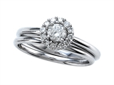 Round Diamonds Wedding Engagement Ring Set - IGI Certified style: SK12562