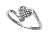 Promise Heart Shape Ring with Round Diamonds style: SK13514