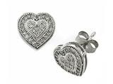 Genuine Heart Shaped Round Diamonds Earrings style: SK9381