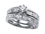 Finejewelers 14k White Gold Round Diamonds Wedding Engagement Ring Set - IGI Certified style: SK9989