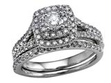 Finejewelers 14k White Gold Round Diamonds Wedding Engagement Ring Set - IGI Certified style: SKR8825