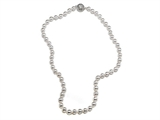 Genuine Pearl Necklace 6.5 - 7mm with a Silver Clasp style: 650007