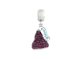 Hershey`s Kiss Purple CZ Small 3D Dangle Bead/ Charm style: AK6714BCAS00SS