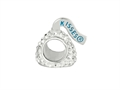 Hershey`s Kiss White CZ Small 3D Shaped Slide Bead/ Charm