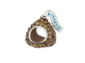 Hershey`s Kiss Brown CZ Small 3D Shaped Slide Bead/ Charm