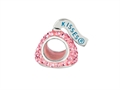 Hershey`s Kiss Pink CZ Small 3D Shaped Slide Pandora Compatible Bead/ Charm