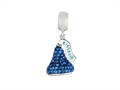 Hershey`s Kiss Blue CZ Small 3D Dangle Bead/ Charm
