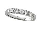 Finejewelers Diamond Round Partial Way Band style: 4976D