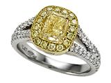 Finejewelers Natural Fancy Yellow Engagement Ring style: 4996