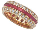 Karina B™ Ruby Eternity Band style: 8086R