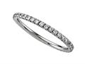 Round Diamonds French Pave Eternity Band