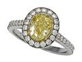 Finejewelers Natural Fancy Yellow Engagement Ring