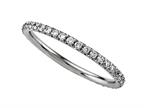 Finejewelers Round Diamonds French Pave Eternity Band Style number: 2121C
