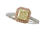 Finejewelers Natural Fancy Yellow Engagement Ring Style number: 4979